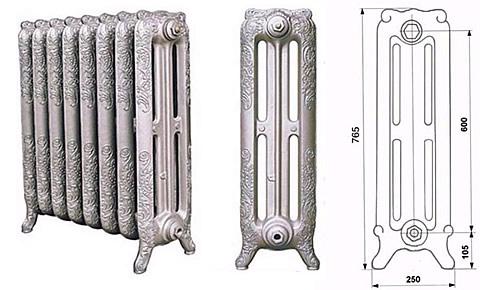 Чугунные дизайн радиаторы Англия